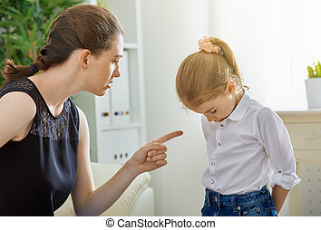 scold - mother scolds her child