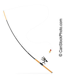 rod spinning for fishing illustration isolated on white...