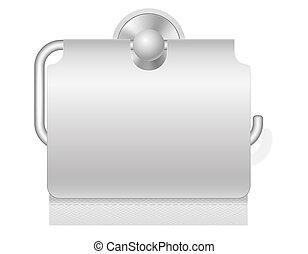 toilet paper on holder illustration - toilet paper on holder...
