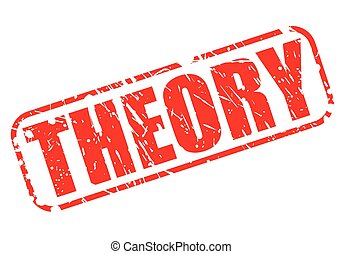 THEORY red stamp text on white