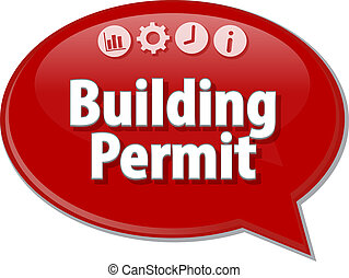 Building Permit blank business diagram illustration - Blank...