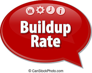 Buildup Rate blank business diagram illustration - Blank...