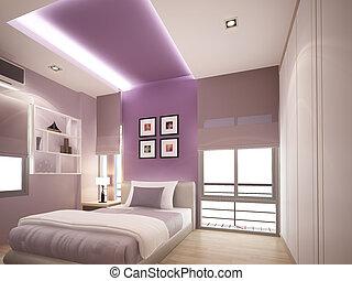 3d rendering of interior bedroom
