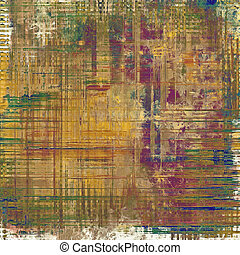Aging grunge texture, old illustration. With different color patterns: yellow (beige); brown; green; purple (violet)