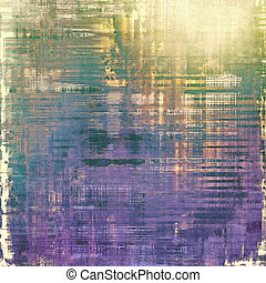 Aging grunge texture, old illustration. With different color patterns: yellow (beige); gray; purple (violet); green