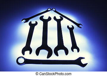 Spanners Arranged in Shape of House
