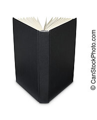 Open blank black book