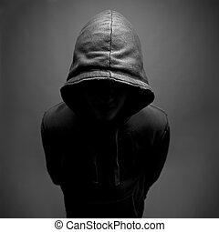 Hooded youth