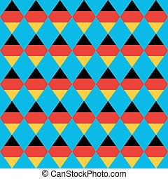 German beer festival vector rhombus background. Oktoberfest  seamless pattern