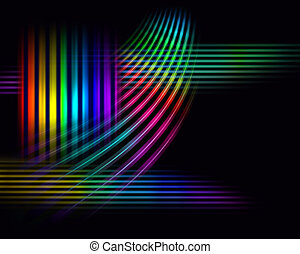 Wide spectrum background - Moving color light lines of...