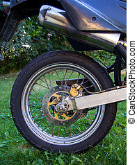 Motorcycle rear wheel - Rear wheel of a small offroad...