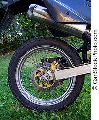 Motorcycle rear wheel - Rear wheel of a small offroad...