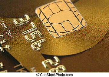 Closer look at credit - Credit card background, shallow DOF