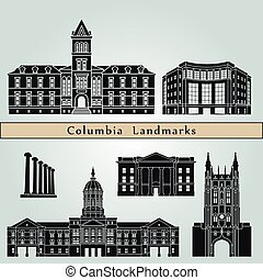 Columbia Landmarks.eps - Columbia landmarks and monuments...
