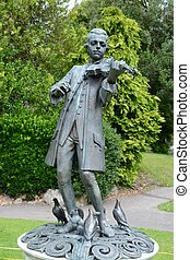 Mozart Statue - Statue of Wolfgang Amadeus Mozart in Parade...