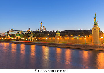 The Moscwo Kremlin, Russia - The Moscow Kremlin is a...