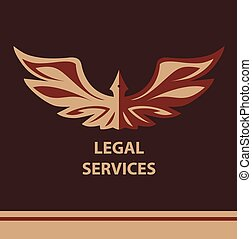 Template vector logo for legal, notary organization -...