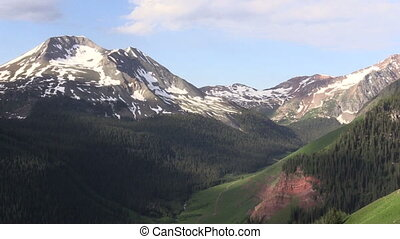 Colorado Mountains in Summer - a scenic summer landscape in...