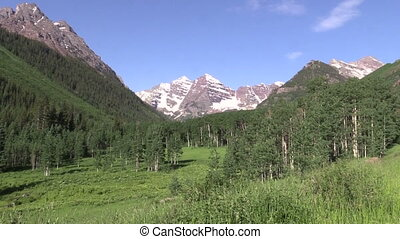 Summer at Maroon Bells - the scenic landscape of the maroon...