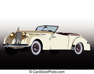 Classic car - Vector graphic design of a old classic car.