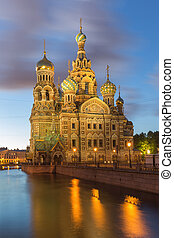 Church of the Savior on Blood at StPetersburg, Russia - The...
