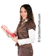 woman holding document