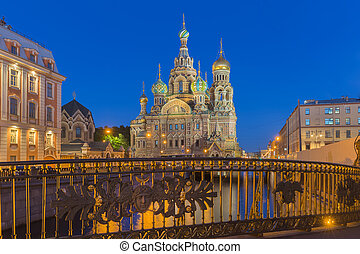Church of the Savior on Blood at St.Petersburg, Russia - The...