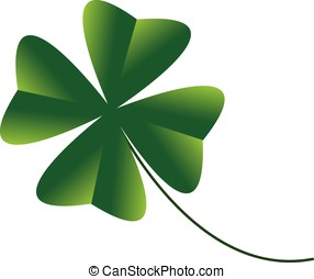 four leaf clover - vector, four leaf clover isolated on...