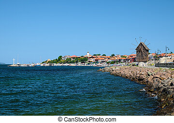 View on old city of Nessebar, Bulgaria