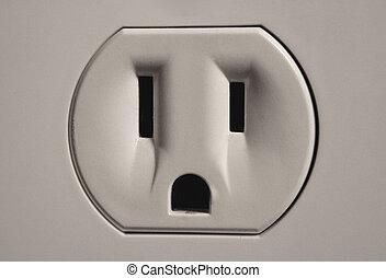 Wall Socket - A close up of a wall socket