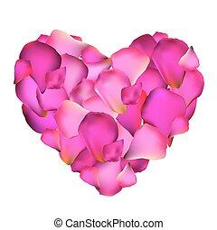 Heart from Rose Petals Vector Illustration