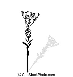 Silhouette of Plants. Vector Ilustration. EPS10