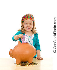 Savings and financial education concept - The way to make...