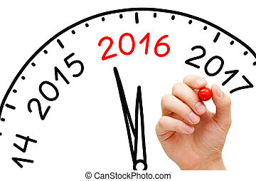 Year 2016 is Coming - Hand drawing New Year 2016 concept...