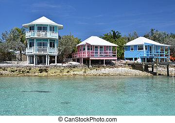 Staniel Cay yacht club. Exumas, Bahamas
