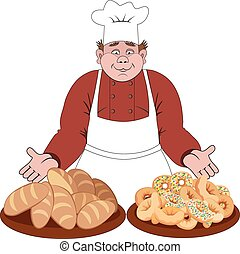 Baker offers the bread and buns