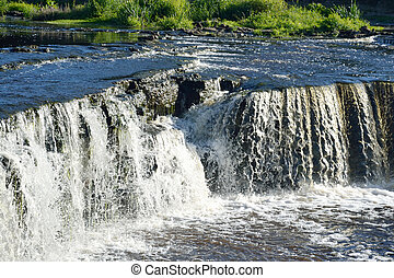 Small waterfall - Small waterfall on Tosna River in...