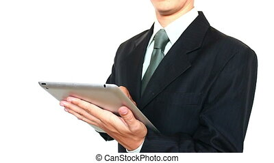 Businessman Using a Tablet For Work