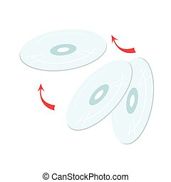 CD or DVD Compact Disc on White Background