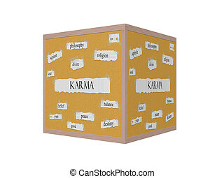Karma 3D Corkboard Word Concept with great terms such as...