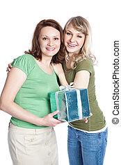 Mother and daughter celebrating mother\'s day - A portrait...