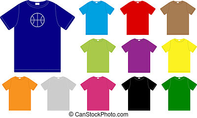 Vector T-Shirts - Set of Color T-Shirts Templates