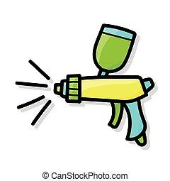 Spray gun doodle