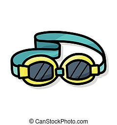 Goggles color doodle