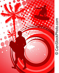 abstract sport background - vector illustration of...