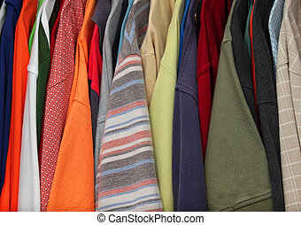colorful shirts closets