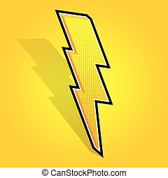 Lightning bolt. - Vector illustrated lightning bolt on...