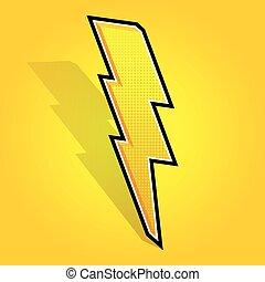Lightning bolt. - Vector illustrated lightning bolt on...