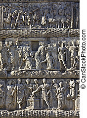Relief detail from Galerius arch at Thessaloniki, Greece