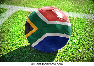 football ball with the national flag of south africa